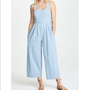 Sold💋Free People chambray jumpsuit size 4